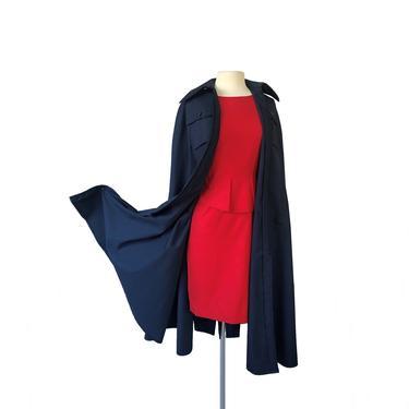 Vintage 60s/70s Oscar de La Renta Boutique midnight blue cape  Bergdorf Goodman by Vintagiality
