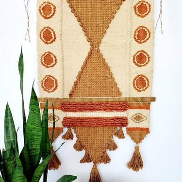 Vintage 70's Handwoven Wall Hanging by pennyportland