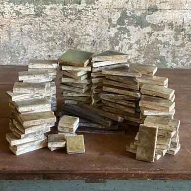 Vintage Salvaged Trent Fireplace Tiles Repurpose Backsplash Crafts by NorthGroveAntiques