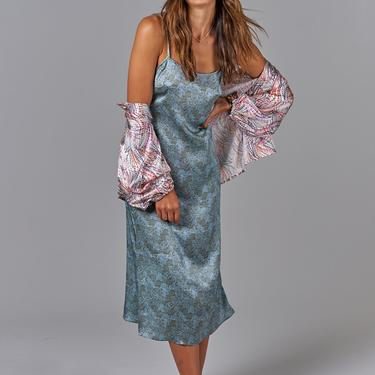 Stevie Slip Dress | Blue Moss Lace
