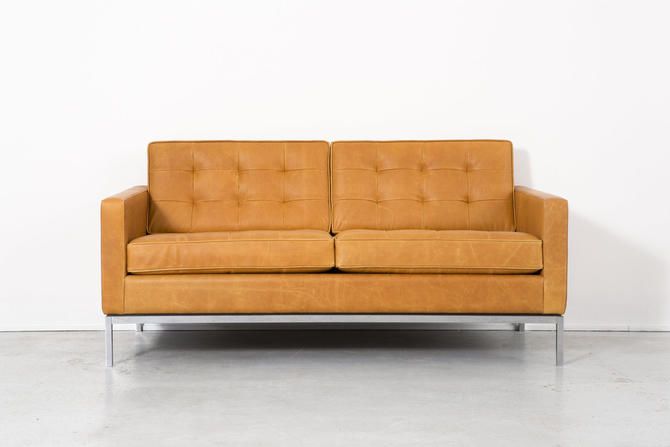 Florence Knoll Leather Settee by MatthewRachman