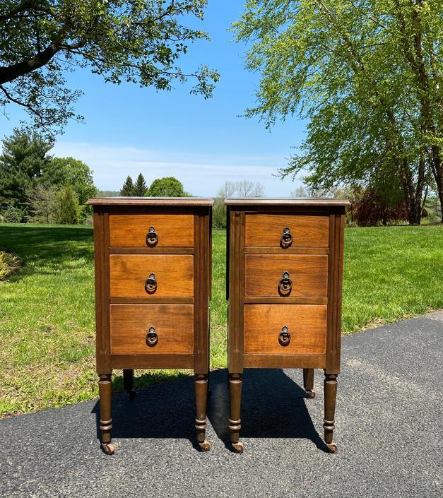 NEW - Vintage Pair of Solid Wood Nightstands, Bedside Tables, End Tables, Available To Customize by ForeverPinkVintage