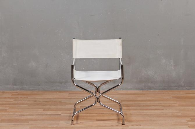 White Painted Vinyl & Chrome Hourglass Armchair – ONLINE ONLY
