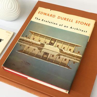 Vintage Edward Durell Stone Book Retro 1960s The Evolution of an Architect + Design + Mid Century Modern + Photography + Architecture + MCM by RetrospectVintage215