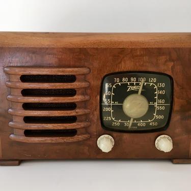 1941 Zenith Table Radio 6D525, Elec Restored by Deco2Go