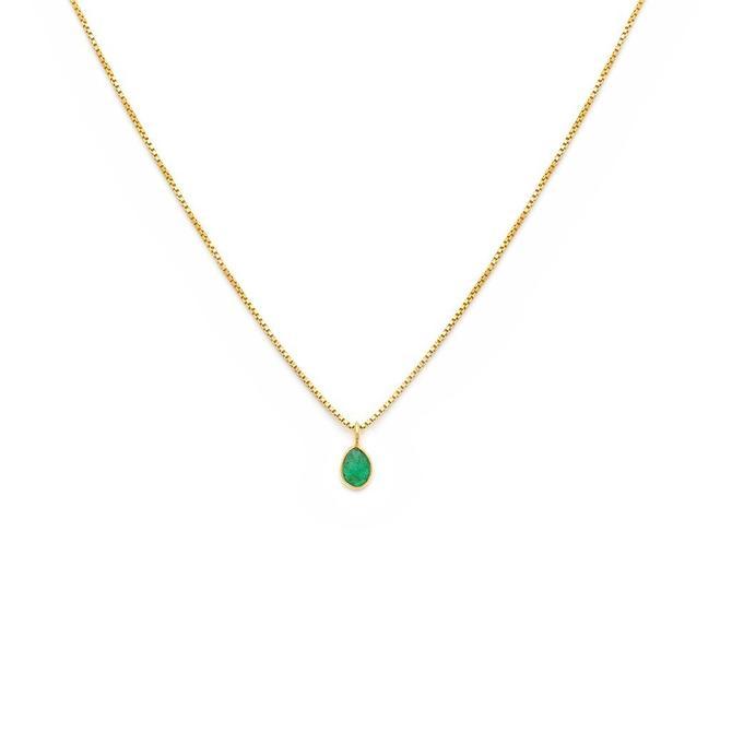 Sofia Slice Necklace - Emerald