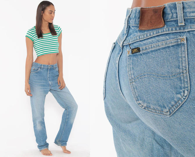 clearance sale on feet images of outlet for sale Lee Mom Jeans 28 Faded Baggy Jeans High Waist Jeans 80s High ...