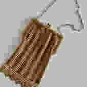 Edwardian Brass Enamel Link Purse by LegendaryBeast