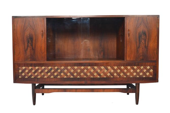 Danish Mid Century Modern Tall Rosewood Media Credenza by MidCenturyMobler