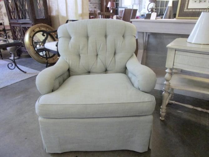 PAIR PRICED SEPARATELY EDWARD FERRELL TUFTED CLUB CHAIRS/ OTTOMANS SEPARATE PRICE
