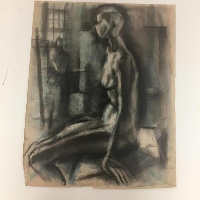 Charcoal drawings on paper by Yutaka Ohashi by PeachModern