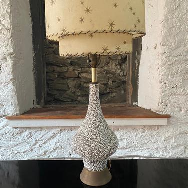 Mid century modern table lamp Atomic ceramic lamp by VintaDelphia