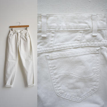 Vintage White Lee Jeans 28x31 by milkandice