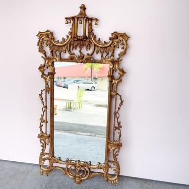 Italian Carved Pagoda Mirror