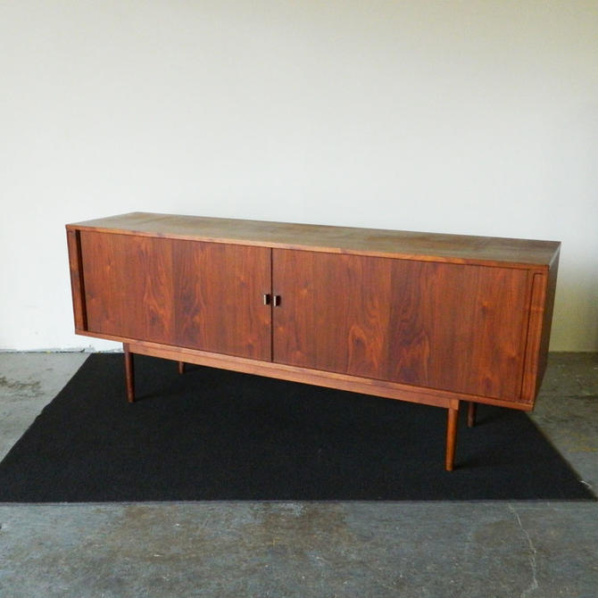 HA-18227 Danish Walnut Sideboard with Tambour Doors by Lovig