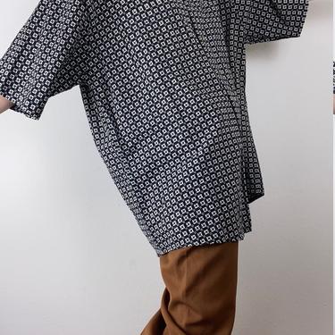linen blend menswear pattern blouse xl by miragevintageseattle