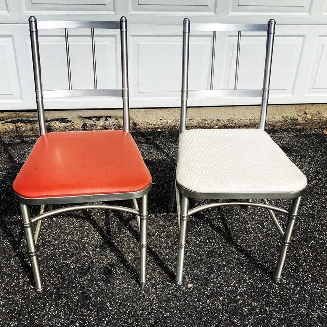 Pair of Art Deco Aluminum Warren McArthur Dining Chairs 1930's