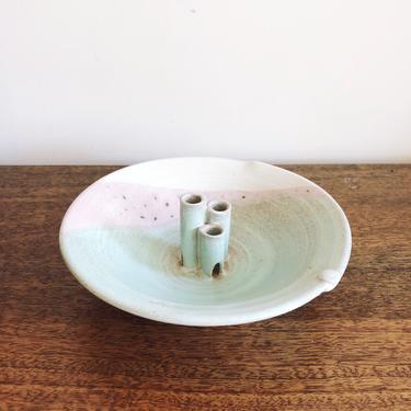 Vintage Japanese Ikebana Ceramic Flower Holder by TheDistilleryVintage
