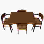 Compact Vejle Stole Danish Walnut Expanding Dining Table