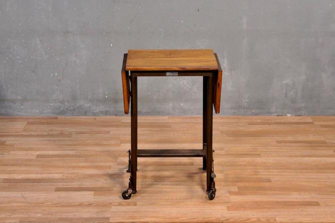Hi-Lo Wood-Top Typewriter Table
