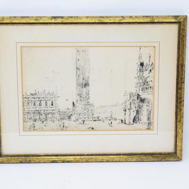 Vintage Venetian Print / St. Mark's Square by CapitolVintageCharm