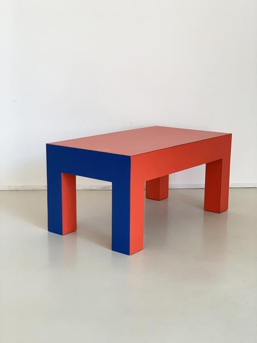 1980s Laminate Color Block Coffee Table