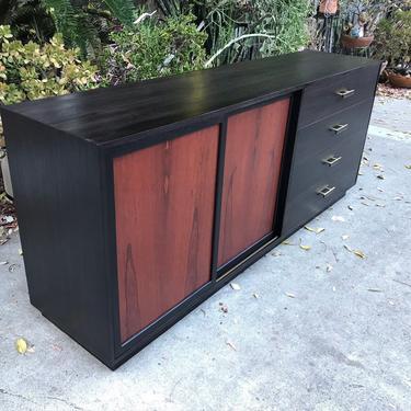 Mid Century Modern Harvey Probber Rosewood And Ebonized Mahogany Credenza Server Dresser. Free Continental us Shipping by ModernFlamingo