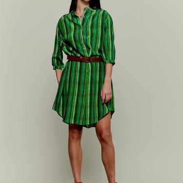 Jenna Dress   Green Lorden Stripe