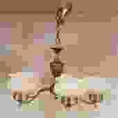 Vintage 5 Arm Brass Chandelier