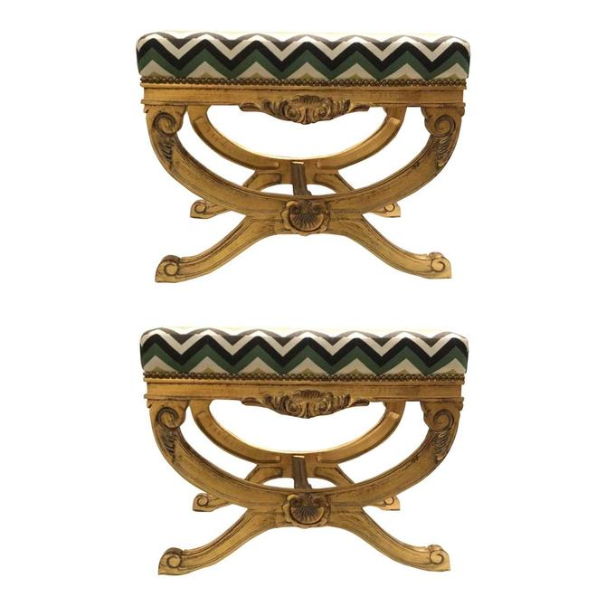 Currey & Co. Transitional Exmoor Benches Pair