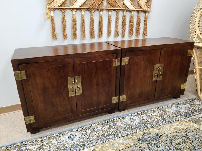 Pair of Mid-Century Asian inspired cabinets by Henredon