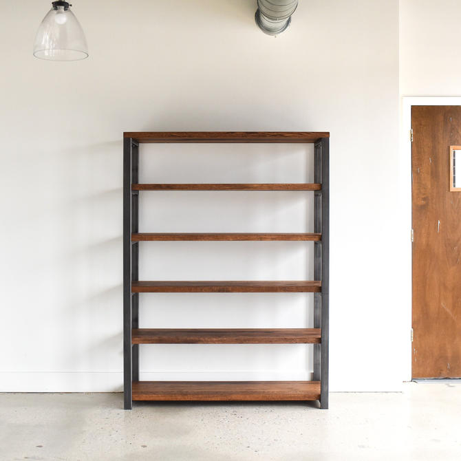 Custom Order: Open Industrial Bookcases (2), Tabletop, and End Table by wwmake
