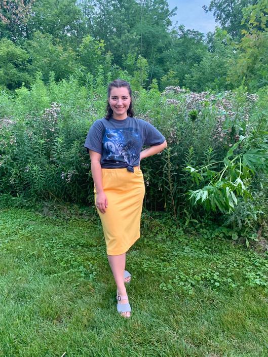 Yellow Pencil Skirt by krispyfringe