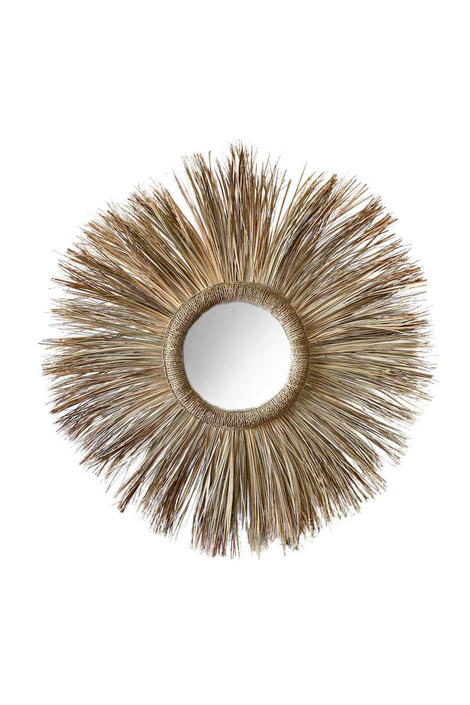 Moroccan Rattan Mirror by CangguHome