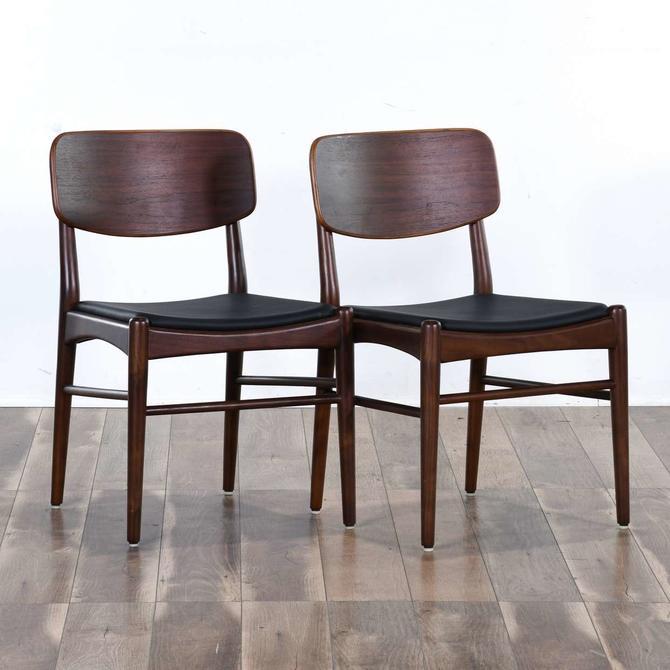 Pair Mid Century Modern Dining Chairs