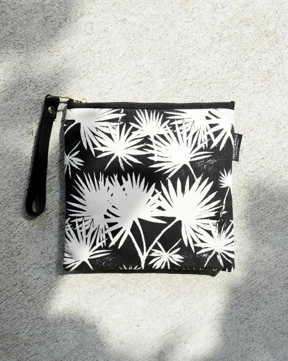 """Square Clutch """"Palm Leaf"""""""