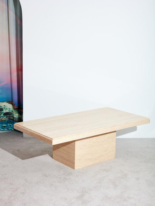 1970s Travertine Coffee Table