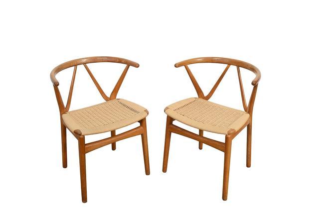 Henning Kjaernulf Model 225, Bruno Hansen Chairs Pair of Chairs Danish Modern by HearthsideHome