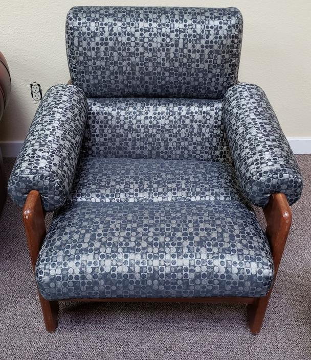 Item #MA27 Vintage Teak Framed & Upholstered Reclining Chair c.1960