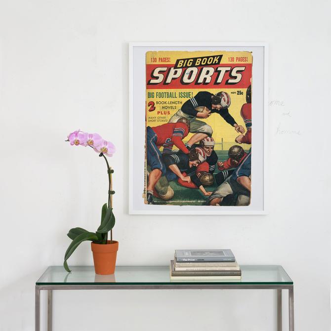 1947 big book sports magazine archival print, vintage sports magazine cover art, magazine cover art print,  cover art, art by pulpholyoke