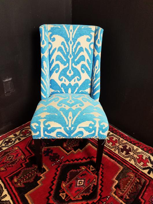 Upholstered Ikat Chair