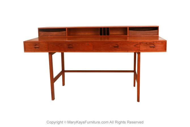 Peter Lovig Nielsen Danish Modern Teak Flip Top Desk by Marykaysfurniture