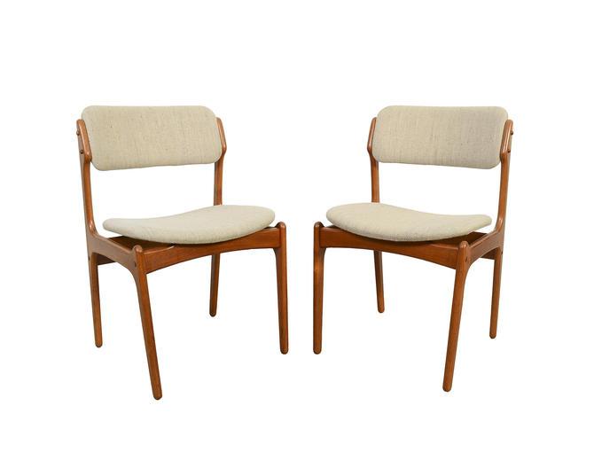 Teak Dining Chairs Erik Buck Danish Modern OD Mobler by HearthsideHome