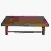 Chinese Rustic Vintage Brown Rectangular Wood Kang Coffee Table cs4463S
