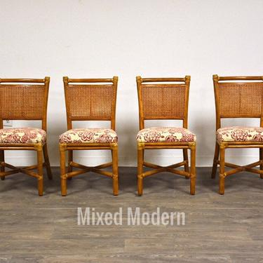 McGuire Bamboo and Cane Dining Chairs - Set of 4 by mixedmodern1