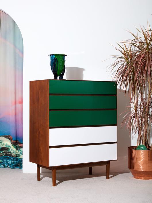 5 Drawer Walnut Dresser