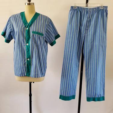 1960s 2pc Men's Vintage Pajama Set from Botany 500 by Sleepwear Pants and Top 60s Loungewear 60's Sleepwear Men's Vintage Size Large by HeySailorNiceVintage