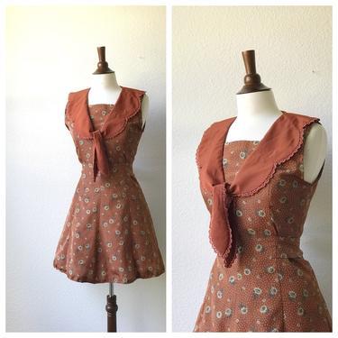 vintage orange marmalade dress S by honeycombvintage