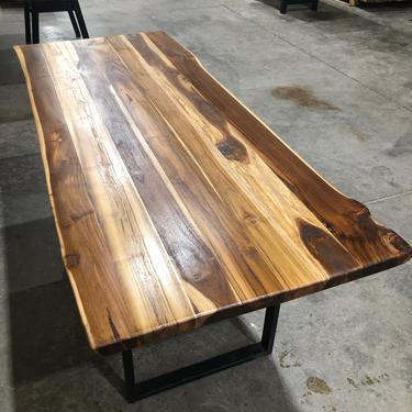 Live Edge Teak Dining Table - Teak Desk by UmbuzoRustic