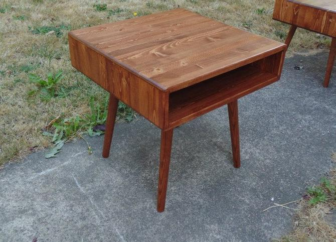 Mid Century Side Table IN STOCK by OrWaDesigns